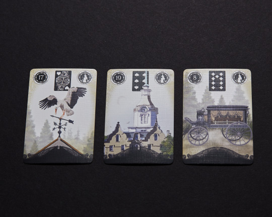 Lenormand cards: Stork, Tower, Coffin